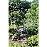 nxtbuy Gartenpforte mit Rosenbogen MAYON in Rost Optik aus Metall, Robuste und Dekorative Pforte mit Rankhilfe