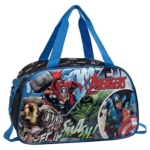 MARVEL Avengers Sac de Voyage, 42 cm, 21.17 L, Noir