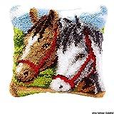 Vervaco PN-0014157 Knüpfkissen 3579 Pferde