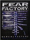 'Fear Factory Demanu Facture Patch Woven 7.5x 10cm