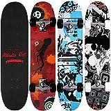 Abec 7Bearings-PU Absorber + PU Wheels Skateboard-Atlantic Rift Design Selection of Colours