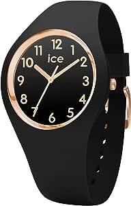 ce-Watch ICE Glam Black Rose-Gold Numbers, Orologio Nero da Donna con Cinturino in Silicone