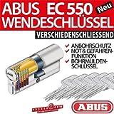 ABUS Profilzylinder Zylinder Türzylinder EC550 EC 550 inkl. 5 Schlüssel 30/40 512643