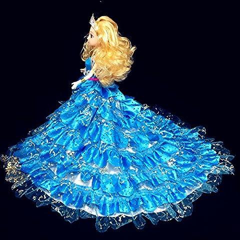 Youvinson Verschiedene Handmade Brautkleider und Kleider für Barbie-Puppen (Dunkelblau)