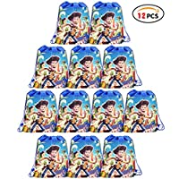 Qemsele Party Bags Drawstring Backpacks 6pcs, Kids Birthday Party Give Aways Supplies Beach Swim Gift Pouch Goodie String Reusable Bags for Children Boys Girls Toddlers