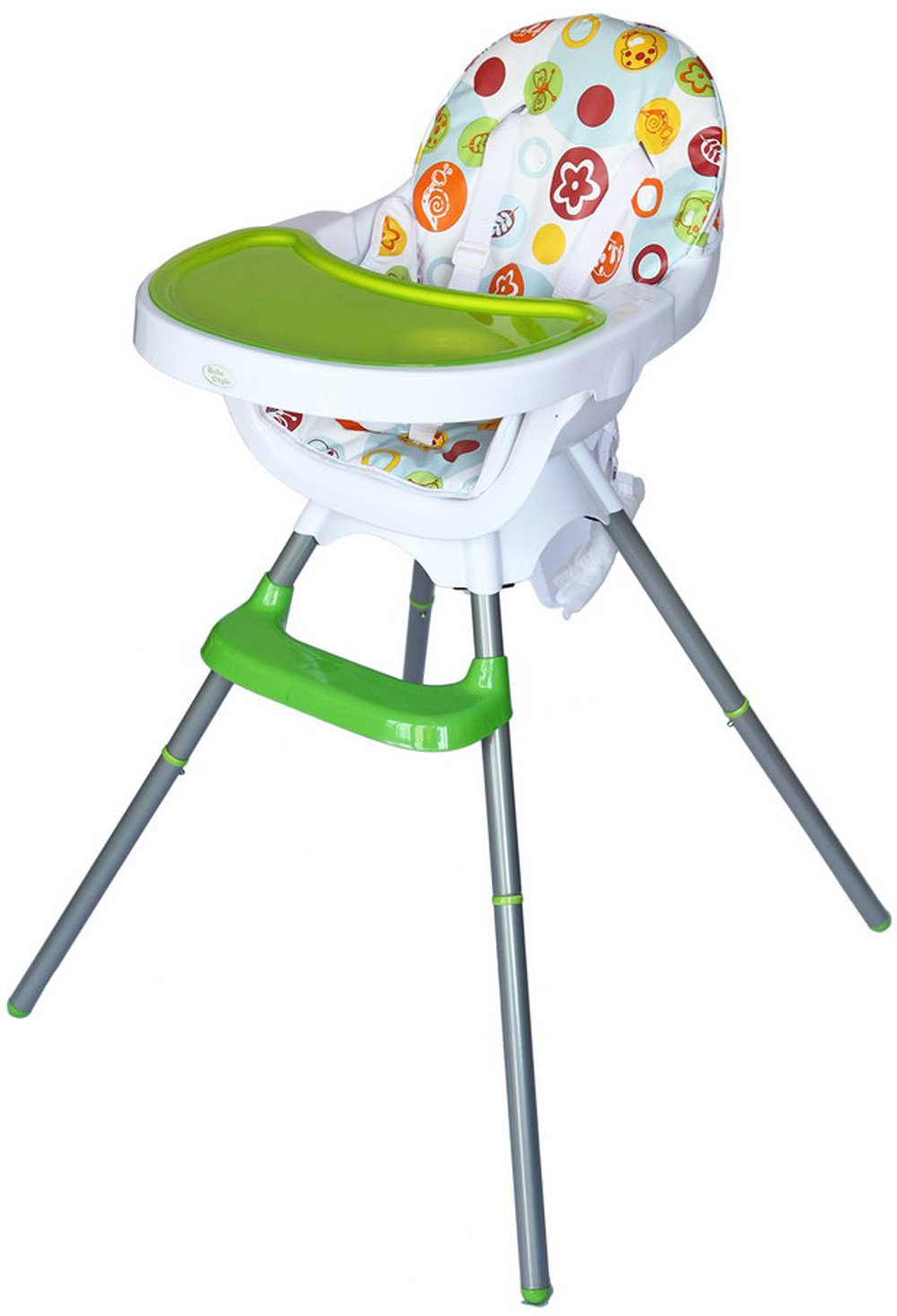 bebe style deluxe in modern highchair junior chair and  - bebe style deluxe in modern highchair junior chair and booster(green) amazoncouk baby