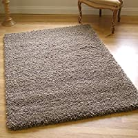 Twilight Rug Thick Luxurious Shaggy Mink 0.8m X 1.5m (2'6 X 5' Approx)