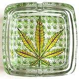 Marihuana Weed Deluxe Glas-Aschenbecher