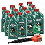 12x 1 L = 12 Liter Castrol Magnatec Diesel 5W-40 DPF Motor-Öl inkl. Ölwechsel-Anhänger und Einfülltrichter