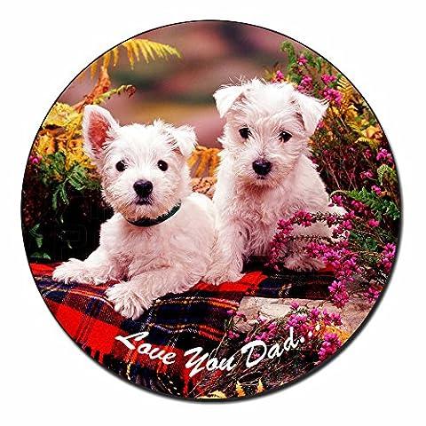 West Highland Dogs 'Dad' Fridge Magnet Stocking Filler Christmas Gift