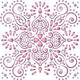 damascato stencil-riutilizzabile di grande floreale schema stencil da-da usare su carta progetti scrapbook Journal muri pavimenti tessuto mobili in vetro legno etc. L
