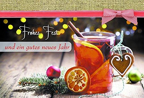 Weihnachtskarte Glühwein-Rezept Frohes Fest Neues Jahr (6 Stck) Kuvert