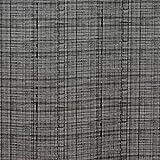 WACHSTUCH Tischdecken Wachstischdecke Gartentischdecke, Abwaschbar Meterware, Länge wählbar, Leinenoptik Grau (127-04) 100cm x 140cm - 2