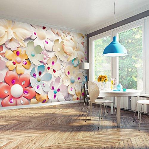 decomonkey | Fototapete Blumen 350x245 cm XXL | Tapete | Wandbild | Riesen Wandbild | Bild | Fototapeten | Tapeten | Wandtapete | Wanddeko |Wanddekoration | FOB0173a73XL