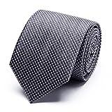 XIANGUO Cravate pour homme motif de tissage cravate classique mode - Gris - Taille Unique