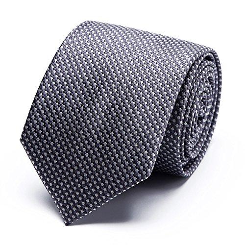XIANGUO Herren Strickmuster weben Fashion Klassik Muster Krawatte für Casual & Arbeitskleidung Geschäft Krawatte one size Blau (Fit Krawatte)