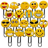 Simpatici segnalibri Emoji, simpatici segnalibri graffetta, novità Emoticon segnalibri per bambini, ragazze, ragazzi, student