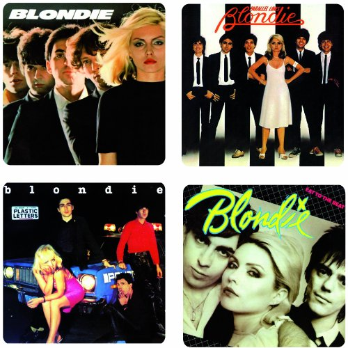 Blondie Album Cover 4 Piece Wooden Coaster Set