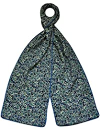 Earth Squared Green, Blue, Red, Orange Flower Cotton Scarf