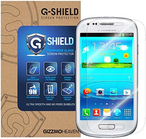 Samsung Galaxy S3 Mini Schutzfolie Gehärtetem Glas Displayschutzfolie G-Shield Screen Protector Panzerglas Displayschutz Anti-Kratz Ultra Klar 9H Härte 0.33mm (Glas Screen Protector Mini S3)