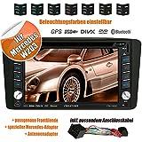 2DIN Autoradio CREATONE V-336DG für Mercedes C-Klasse W203 (03/2000-08/2004) mit GPS Navigation (Europa), Bluetooth, Touchscreen, DVD-Player und USB/SD-Funktion