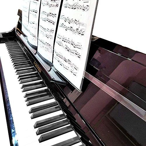 mukezon Piano Score Feste transparenter extension-type rutschfest Musik Schutzhülle Zubehör Piano Zubehör