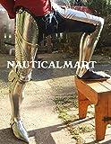 Nauticalmart Renaissance Armour médiéval en acier jambe complète Armour avec raccord de laiton-Costume d'Halloween...