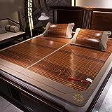 Klimatisierte Matte Coole Bambus Teppich Faltbare Doppelseitige Verfügbare Rattan Matratze Sommer Schlafmatte Ice Silk Mat 1,5 M 1,8 M 3-teilig (größe : 1.5m (5 ft) bed)