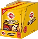 Pedigree Hundesnacks Hundeleckerli Ranchos Originals mit Rind, 7 Packungen (7 x 70 g)
