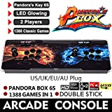 Waroomss Pandora's Box, Helden des Sturms Pandora's Box 6s, Doppelstock 720P Retro-Videospiele Doppelstock-Arcade-Konsole, 1388 Klassische Spiele in 1 Pandoras Box Arcade