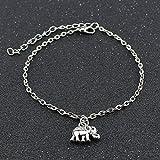 WeiMay Fußkettchen Elefant Anhänger FußSchmuck Legierung Fußkette Ketten Mode Schmuck für Damen