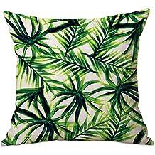 """cosanter cojín Tropical verde hierba hojas manta funda de almohada para sofá coche decoración para el hogar 17,7"""""""