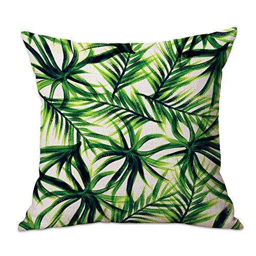 Leisial Tropische Pflanzen Zierkissenbezüge Kissen-Bezug Kissen Cover Für Kissen Sofakissen,45x45CM,1 Stück,Tropische Pflanzen 4