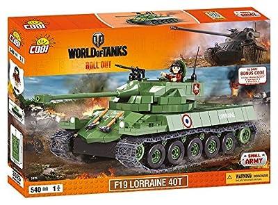 Konstruktion Spielzeug kleine Armee Panzer F19 Lorraine 40T Bauklötzen World of Tanks von Cobi