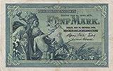 Deutsches Reich Rosenbg: 22a, KN 6stellig gebraucht (III) 1904 5 Mark Germania (Banknoten für Sammler)