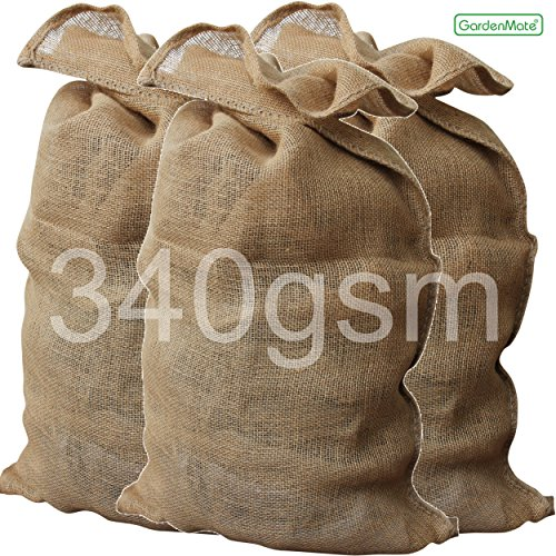 GardenMate® 3x PREMIUM Sac en Toile de Jute 135 x 65 cm 340gsm (3)