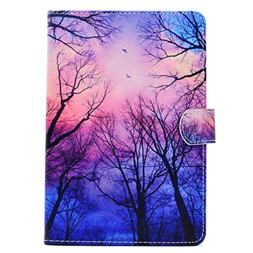 Hozor Apple iPad mini 4 (7.9 zoll) Hülle - Auto Sleep / Wake up & Ständer Funktion Smart Case Cover Schutzhülle Flip Bookcase Etui Leder Tasche mit Frei 1 x Stift [Rosa Wolken]
