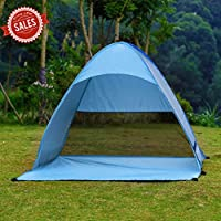 ICOCO Pop Up Tent Outdoor 2-3 Persons Quick Automatic Pop up Instant Portable Cabana Beach Tent Camping Fishing Picnic Shelter for Beach Park