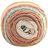 Huilongxin 100g/Ball Colorful 5 ply Rainbow Cotton Pillow Knitting Yarn,Blanket Yarn Handmade DIY Scarf Pillow Blanket Knitti