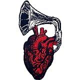 Toppa ricamata da applicare con ferro da stiro o cucitura, tema: Lascia che il mio cuore sia ascoltato