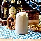 Boccale per birra Brezel 17.5oz/500ml–novità Boccale di birra con manico in ceramica