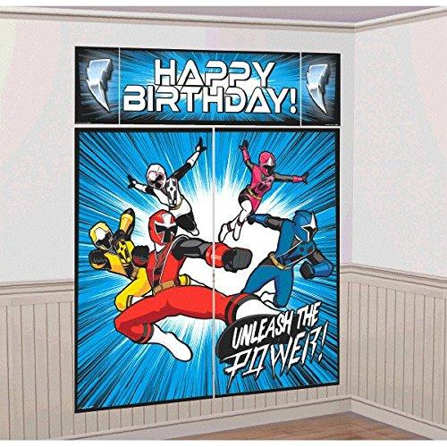 Power Ranger 5 teilies Wandposter Set mit Happy Birthday Posterteil