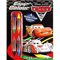 Disney Pixar/Infinity Cars 2: Copy Colour Book with four dual-crayon