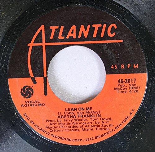 ARETHEA FRANKLIN 45 RPM LEAN ON ME / SPANISH HARLEM