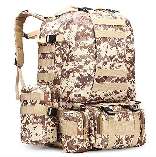 Yy.f Militärtarnung Wandern Taktische Tasche Bergsteigen Rucksack Großes Portfolio Camping Reisetaschen Oxford-Tuch Im Freien Rucksack. Multicolor B