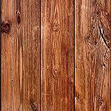 murando - Vlies Tapete - Deko Panel Fototapete - Wandtapete - Wand Deko - 10 m Tapetenrolle - Mustertapete - Wandtapete - modern design - Dekoration - Holz 1602-13