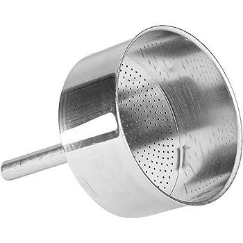 3 Tassen 0800109 Aluminium Bialetti Moka Induction Trichter Filter