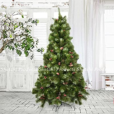 Elegant Artificial Christmas Tree with Pine Cone/Red Berries Indoor Different Sizes