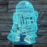 SmartEra Star Wars Force Awaken 7 Farbwechsel Roboter R2D2 Touch-3D optische Täuschung...