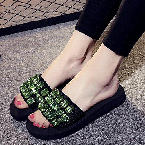 Estate Sandali Sandali e pantofole femminili estivi Casual pantofole Scarpe da spiaggia con molti colori Colore / formato facoltativo #5
